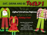 Free Christmas Pajama Party Invitations Ugly Pajamas Holiday Party Invitation by Party Pop Catch