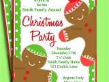 Free Christmas Party Invitation Template Christmas Party Invitation Printable Gingerbread Kid
