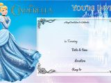 Free Cinderella Birthday Invitation Template Free Printable Cinderella Birthday Invitation Bagvania