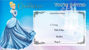 Free Cinderella Birthday Invitation Template Free Printable Cinderella Birthday Invitation Bagvania