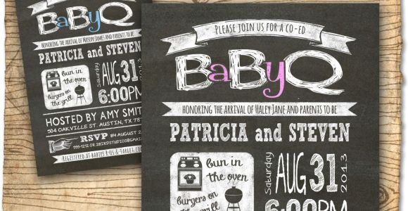 Free Coed Baby Shower Invites Baby Q Baby Shower Invitation Coed Baby Shower Invite