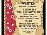 Free Cowgirl Birthday Invitation Templates Cowboy Invitations Template Best Template Collection