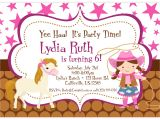 Free Cowgirl Birthday Invitation Templates Cowgirl Birthday Invitations Templates