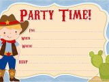 Free Cowgirl Birthday Invitation Templates Free Printable Cowboy Party Invitations From