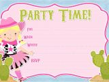Free Cowgirl Birthday Invitation Templates Free Printable Party Invitations Free Cowgirl Invitations