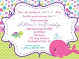 Free Custom Birthday Invitations with Photo Whale Birthday Invitation Personalized by Afairytalebeginning