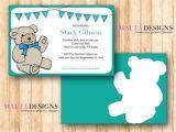 Free Customizable Baby Shower Invitations Custom Baby Shower Invitation Printable Teddy Bear 1