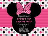 Free Customizable Minnie Mouse Birthday Invitations Minnie Mouse Birthday Party Invitations Drevio