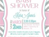 Free Digital Baby Shower Invitation Templates Items Similar to Custom Chevron Baby Shower Invitation