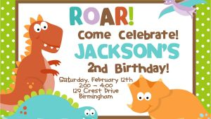 Free Dinosaur Birthday Party Invitation Template Cretaceous Dinosaur Birthday Party Invitations Bagvania