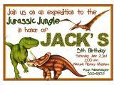 Free Dinosaur Birthday Party Invitation Template Free Printable Dinosaur Birthday Invitation