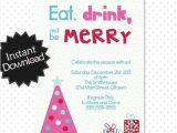 Free Editable Christmas Party Invitations Editable Modern Christmas Party Invitation Instant