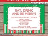 Free Editable Christmas Party Invitations Free Editable Christmas Party Invitations Cobypic Com