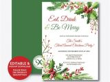 Free Editable Christmas Party Invitations Instant Download Editable Eat Drink and Be Merry
