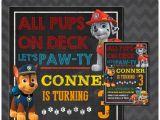 Free Editable Paw Patrol Birthday Invitations Free Paw Patrol Birthday Invitation Instant Download