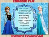 Free Editable Printable Frozen Birthday Invitations 9 Best Of Frozen Birthday Invitations Editable