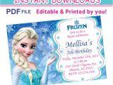 Free Editable Printable Frozen Birthday Invitations Editable Pdf Instant Download Frozen Invitation First