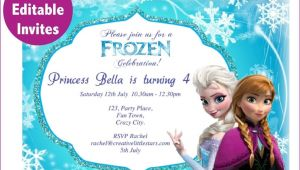 Free Editable Printable Frozen Birthday Invitations Frozen Free Printable Invitations Templates