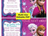Free Editable Printable Frozen Birthday Invitations Sale Frozen Party Invitation Editable Pdf Disney Princess