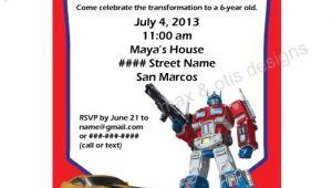 Free Editable Transformer Birthday Invitations Items Similar to Transformers theme Printable Invitation