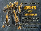 Free Editable Transformer Birthday Invitations Personalized Transformers Bumblebee Birthday Invitation