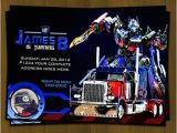 Free Editable Transformer Birthday Invitations Transformers Birthday Invitation Optimus by