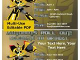 Free Editable Transformer Birthday Invitations Transformers Party Invitation Editable Pdf by