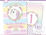 Free Editable Unicorn Birthday Invitations Unicorn Invitation Unicorn Party Invite Magical Rainbow