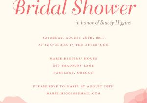 Free Electronic Bridal Shower Invitations Bridal Shower Save the Date Wording Wedding Gallery