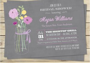 Free Electronic Bridal Shower Invitations Vintage Bouquet Bridal Shower Invitation Various Color