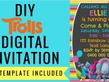 Free Electronic Party Invitations Free Trolls Digital Invitation How to Make with