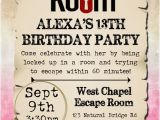 Free Escape Room Birthday Party Invitations Birthday Party Flyer Templates You Can Edit
