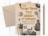 Free Escape Room Birthday Party Invitations Escape Room Invitations Escape Room Party Escape Room