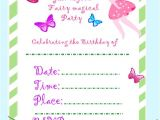 Free Fairy themed Birthday Invitations Fairy Invitation Fairy Party Diy Birthday Invitations