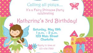 Free Fairy themed Birthday Invitations Free Fairy Birthday Party Invitations Home Party Ideas