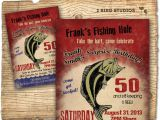 Free Fish themed Birthday Party Invitations Fishing Birthday Party Invitation Invite 30th 40th 50th