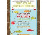 Free Fish themed Birthday Party Invitations Fishing Printable Birthday Party Invitation Dimple