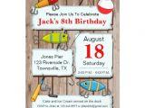 Free Fish themed Birthday Party Invitations Fishing theme Party Invitation