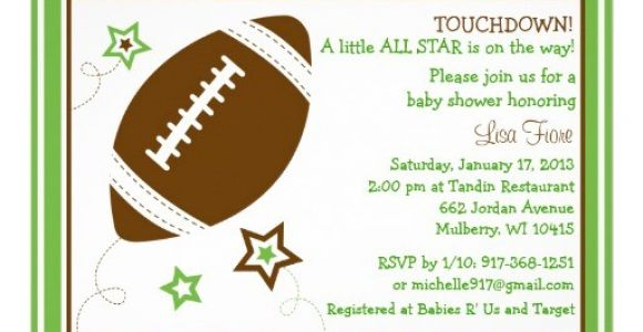 Free Football Baby Shower Invitations Football All Star Baby Shower Invitations
