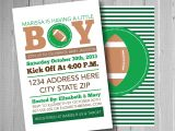 Free Football Baby Shower Invitations Football Baby Shower Invitation Sports theme