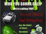 Free Ghostbusters Birthday Invitations Ghostbusters Birthday Party Invitation for Any Age Custom