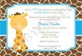Free Giraffe Baby Shower Invitations Templates Baby Shower Invitations Giraffe theme