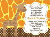 Free Giraffe Baby Shower Invitations Templates Giraffe Baby Shower Invitations
