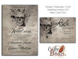 Free Gothic Wedding Invitation Templates Wicked Halloween Horror Gothic Wedding Invitation