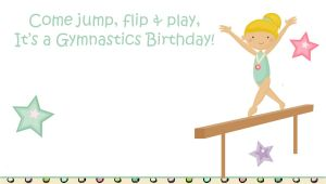 Free Gymnastics Party Invitation Templates Free Printable Gymnastic Birthday Invitations Updated