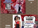 Free Harley Quinn Birthday Invitations Harley Quinn Birthday Party Invitations Printable Uprint