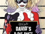 Free Harley Quinn Birthday Invitations Harley Quinn Custom Digital Printable Birthday Party