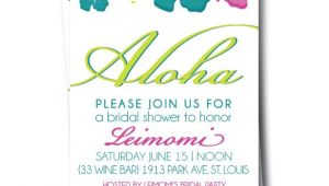 Free Hawaiian themed Bridal Shower Invitations Bridal Shower Invitations Free Hawaiian Bridal Shower