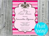 Free Instant Download Bridal Shower Invitations Instant Download Bridal Shower Invitation Wedding Shower