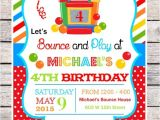 Free Jump Party Invitations Diy Bounce House Party Invitations Bouncy by thepaperkingdom